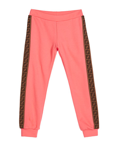 Girl's FF Logo Trim Sweatpants  Size 4-6  and Matching Items