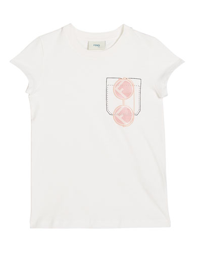 Girl's Short-Sleeve Sunglasses Graphic T-Shirt  Size 4-6  White and Matching Items