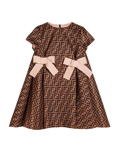 Girl's FF Neoprene Dress w/ Bows  Size 4-6  and Matching Items