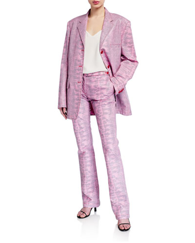 Molly Embossed Lizard Oversized Blazer and Matching Items