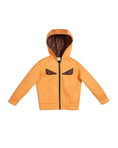Boy's Reversible Hooded Logo Jacket with Eyes  Size 4-6 and Matching Items