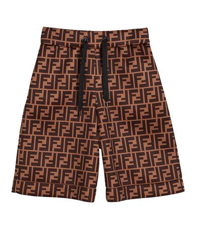 Boy's FF-Print Drawstring Shorts  Size 4-6 and Matching Items
