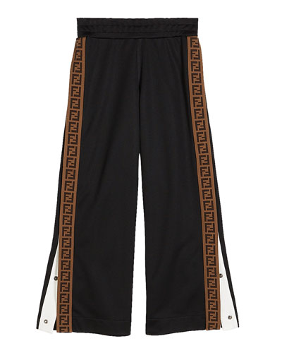 Boy's Track Pants with Logo Side-Trim  Size 4-6 and Matching Items