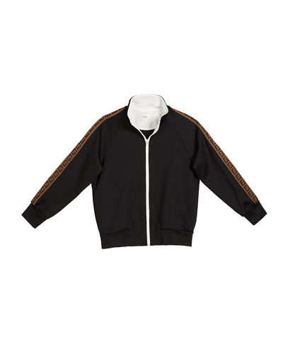 Boy's Zip-Front Track Jacket w/ FF Logo Tape  Size 4-6 and Matching Items