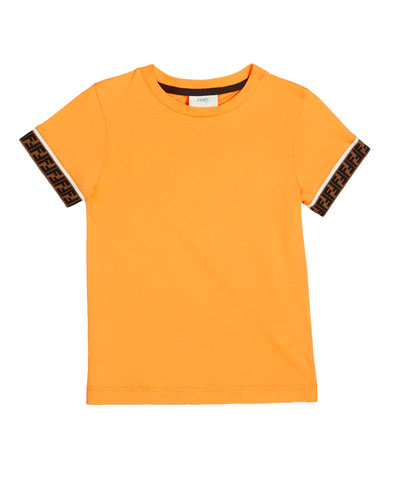Boy's Short-Sleeve T-Shirt w/ Logo Taping  Size 4-6 and Matching Items