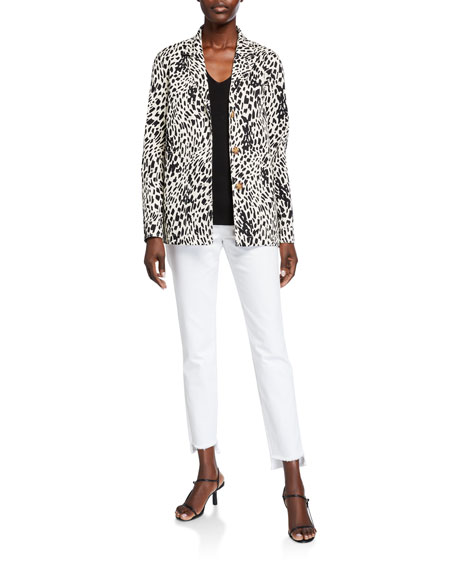 Lafayette 148 New York Coleman Cheetah-Print Twill Jacket