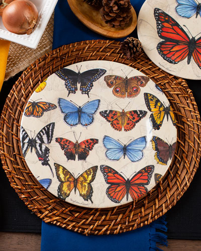 Field Guild Butterflies Bamboo Salad Plates  Set of 4  and Matching Items