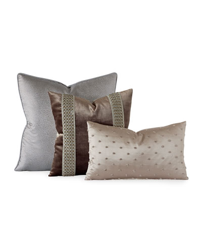 Silvio Embroidered Decorative Pillow  and Matching Items