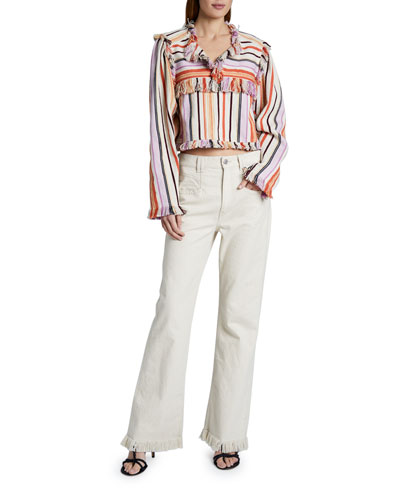 Cotton-Linen Striped Top and Matching Items