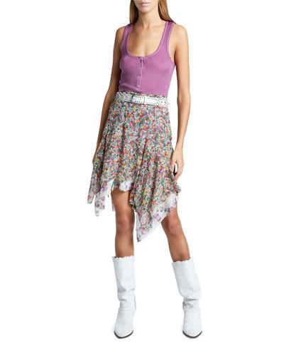 Louisali Sleeveless Silk Henley Tee and Matching Items
