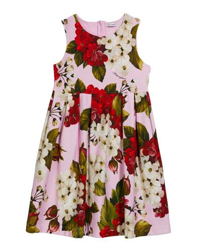 Girl's Blooming Geranium-Print Sleeveless Dress  Size 4-6 and Matching Items