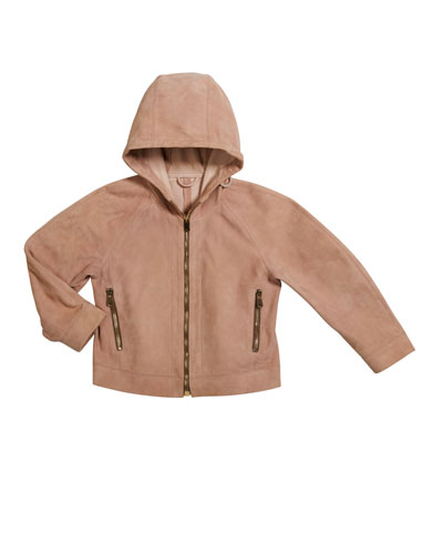 Girl's Hooded Suede Jacket  Size 12-14 and Matching Items