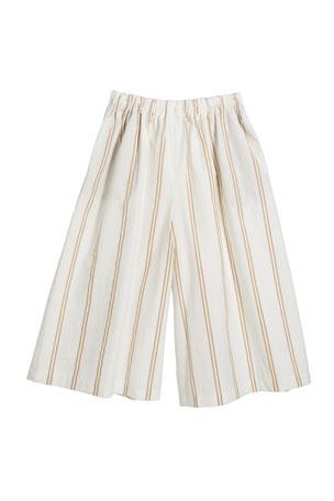 Brunello Cucinelli Girl's Striped Pull-On Pants, Size 12-14 Girl's Striped Pull-On Pants, Size 8-10 Girl's Striped Pull-On Pants, Size 4-6