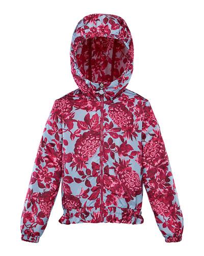 Girl's Pineapple Print Technique Jacket  Size 8-14