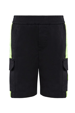 Moncler Boy's Bermuda Stretch Shorts w/ Contrast Trim, Size 4-6 Boy's Bermuda Stretch Shorts w/ Contrast Trim, Size 8-14