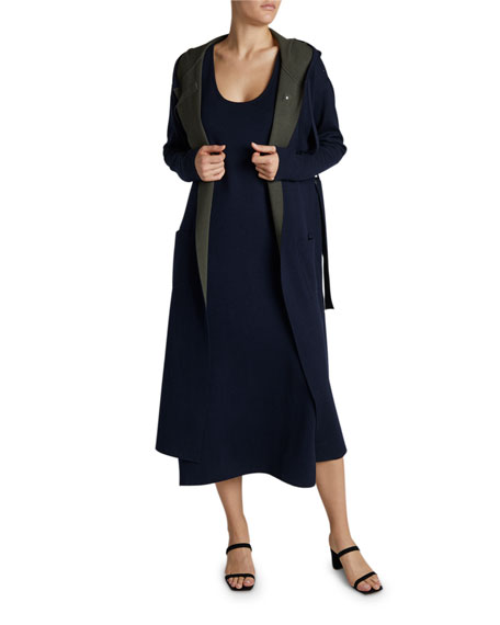 Maison Ullens Cashmere-Silk Sleeveless Midi Dress