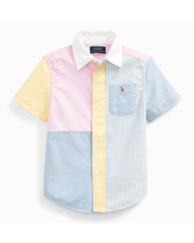 Boy's Patchwork Oxford Shirt  Size 2-4  and Matching Items