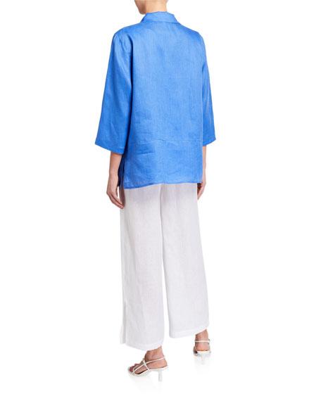 Caroline Rose Tissue Linen Panel Shirt