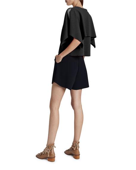 Stella McCartney Compact Knit Short-Sleeve Top