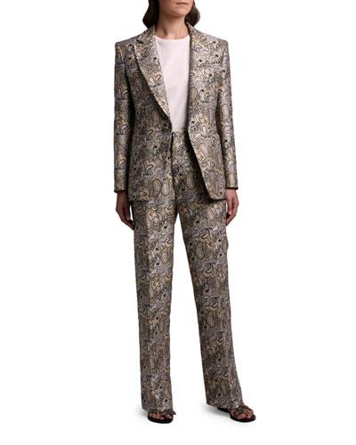 Paisley Brocade Blazer Jacket and Matching Items