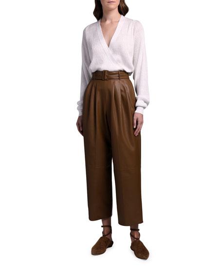 Agnona Linen-Silk Wrap Sweater