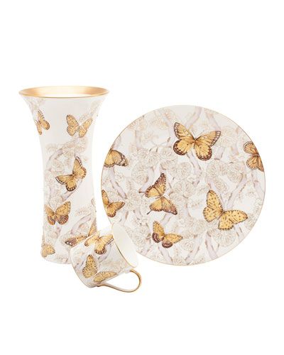 Butterfly Jeweled Decorative Plate  and Matching Items