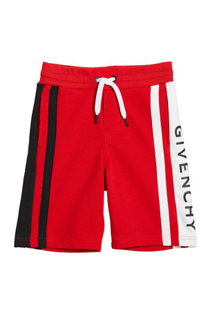 Givenchy Boy's Colorblock Logo Shorts, Size 12-14 Boy's Colorblock Logo Shorts, Size 6-10 Boy's Colorblock Logo Shorts, Size 4