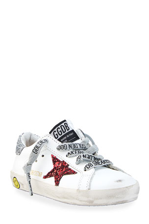 Golden Goose Star Leather Low-Top Sneakers, Baby/Toddler Star Leather Low-Top Sneakers, Toddler/Kids