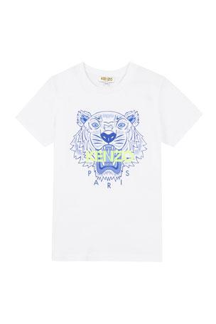 Kenzo Boy's Tiger Logo Printed T-Shirt, Size 2-6 Boy's Tiger Logo Printed T-Shirt, Size 8-12