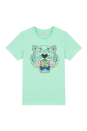 Kenzo Boy's Tiger Logo Printed T-Shirt, Size 2-6 Boy's Tiger Logo Printed T-Shirt, Size 14 Boy's Tiger Logo Printed T-Shirt, Size 8-12