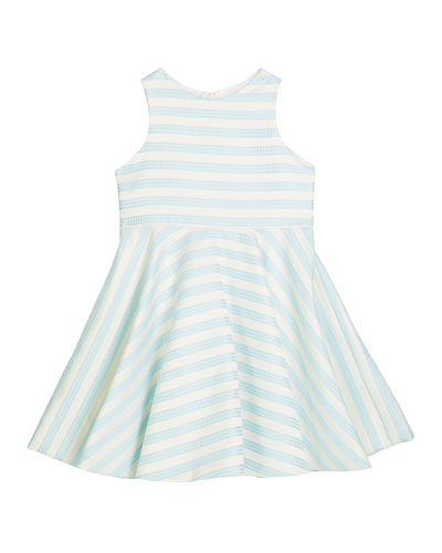Girl's Striped Twirl Dress  Size 12M-3 and Matching Items