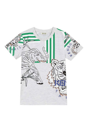 Kenzo Boy's Multi Icon Graphic T-Shirt, Size 2-6 Boy's Multi Icon Graphic T-Shirt, Size 8-12