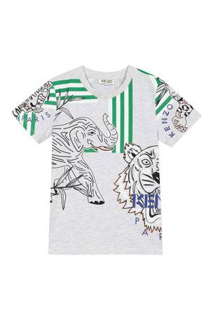 COOL BEARD Boy Blouse Wrap Printed Baseball Tee Shirts