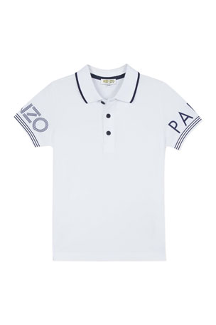 Kenzo Boy's Logo Polo Shirt, Size 2-6 Boy's Logo Polo Shirt, Size 8-12