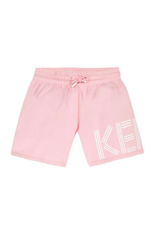 Kenzo Girl's Logo Fleece Shorts, Size 2-6 Girl's Logo Fleece Shorts, Size 8-12