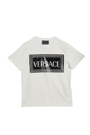 Versace Kid's Logo Block Short-Sleeve Tee, Size 4-6