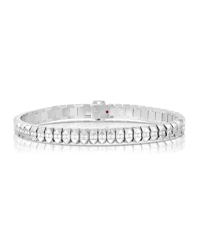 Rock and Diamonds 18k White Gold Diamond Flexible Bracelet  6.6 and Matching Items