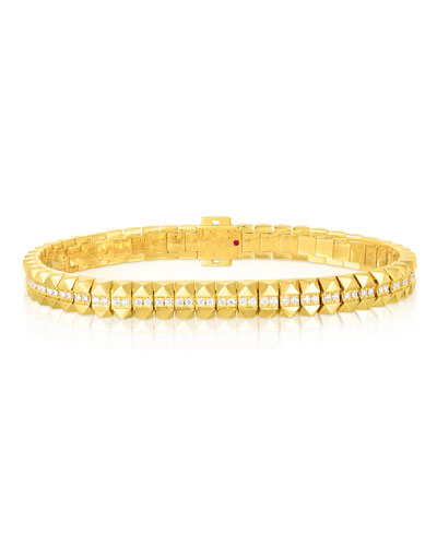 Rock and Diamonds 18k Yellow Gold Diamond Flexible Bracelet  7 and Matching Items