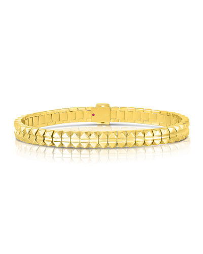 Rock and Diamonds 18k Yellow Gold Bracelet  6.6 and Matching Items
