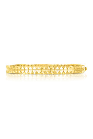Roberto Coin Rock and Diamonds 18k Yellow Gold Bangle Bracelet, 48x58mm Rock and Diamonds 18k Yellow Gold Bangle Bracelet, 46x56mm