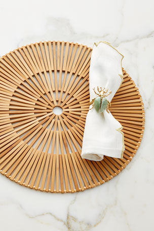 Kim Seybert Nile Napkin Ring Spoke Placemat