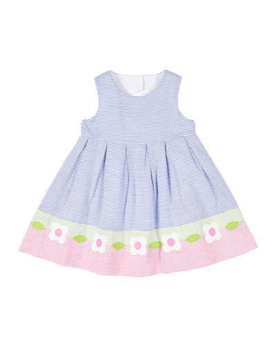 Girl's Multicolor Seersucker Dress w/ Flowers  Size 2-3 and Matching Items