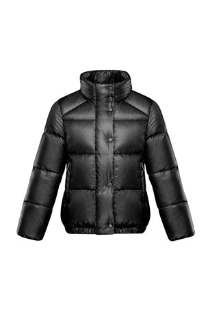 Moncler Girl's Hortensia Nylon Ripstop Jacket, Size 4-6 Hortensia Nylon Ripstop Jacket Sizes 8-14