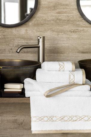 Togas Mia White/Ecru Bath Towel Mia White/Ecru Face Towel