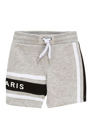 Givenchy Boy's Logo Heathered Sweatshorts, Size 12-18 Months Boy's Logo Heathered Sweatshorts, Size 2-3