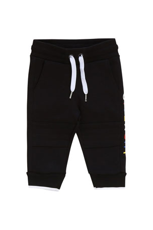 Givenchy Boy's Multicolor Logo Text Sweatpants, Size 12-18 Months Boy's Multicolor Logo Text Sweatpants, Size 2-3