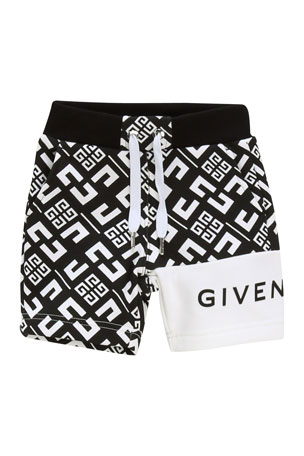 Givenchy Boy's 4-G Printed Drawstring Shorts, Size 12-18 Months Boy's 4-G Printed Drawstring Shorts, Size 2-3