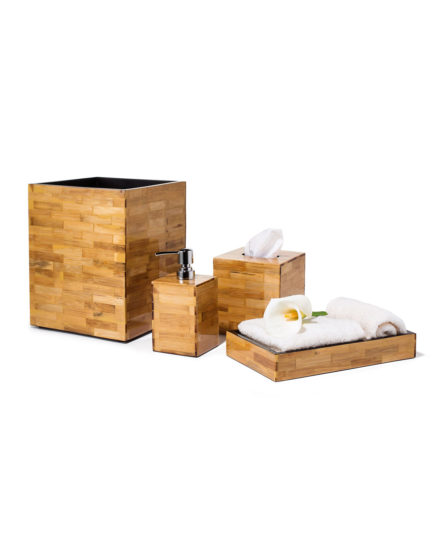 LADORADA Bamboo Tissue Box Cover