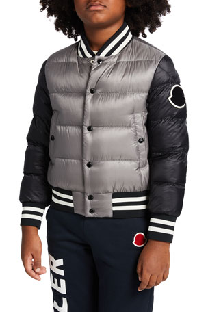Moncler Boys' Beaufortain Bomber Jacket, Size 8-14 Boys' Beaufortain Bomber Jacket, Size 4-6
