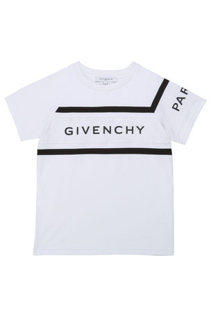 Givenchy Boy's Rubber Ink Logo T-Shirt, Size 12-14 Boy's Rubber Ink Logo T-Shirt, Size 4-10